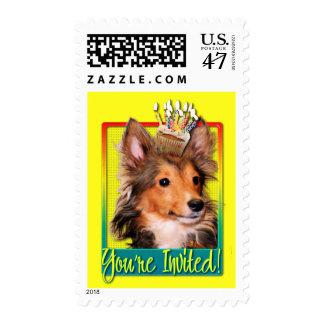 Invitation Cupcake - Sheltie Puppy - Cooper Postage