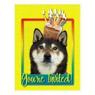 Invitation Cupcake - Shiba Inu - Yasha Postcard