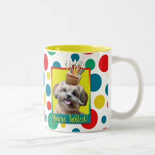 Invitation Cupcake - ShihPoo - Maggie Two-Tone Coffee Mug