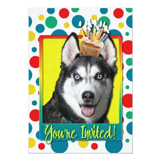 Invitation Cupcake - Siberian Husky