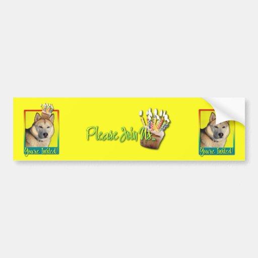 Invitation Cupcake - Siberian Husky - Copper Bumper Sticker