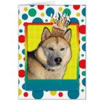 Invitation Cupcake - Siberian Husky - Copper Greeting Cards