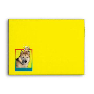 Invitation Cupcake - Siberian Husky - Copper Envelope
