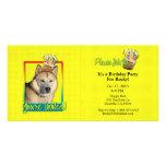 Invitation Cupcake - Siberian Husky - Copper Picture Card