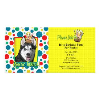 Invitation Cupcake - Siberian Husky Custom Photo Card