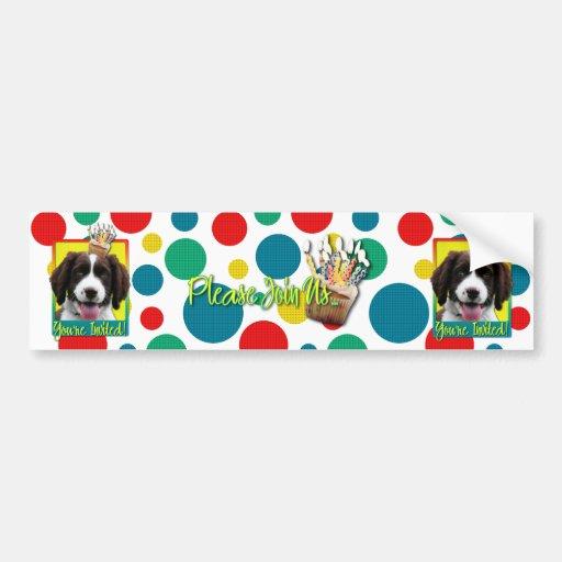 Invitation Cupcake - Springer Spaniel - Baxter Bumper Stickers