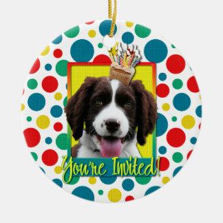 Invitation Cupcake - Springer Spaniel - Baxter Double-Sided Ceramic Round Christmas Ornament