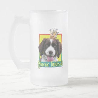 Invitation Cupcake - Springer Spaniel - Baxter Frosted Glass Beer Mug