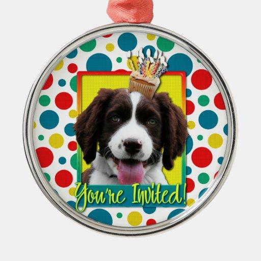 Invitation Cupcake - Springer Spaniel - Baxter Ornament