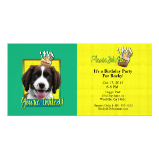 Invitation Cupcake - Springer Spaniel - Baxter Personalized Photo Card