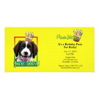 Invitation Cupcake - Springer Spaniel - Baxter Picture Card