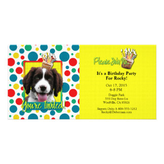 Invitation Cupcake - Springer Spaniel - Baxter Photo Greeting Card