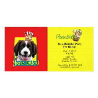 Invitation Cupcake - Springer Spaniel - Baxter Photo Cards