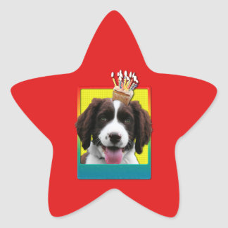 Invitation Cupcake - Springer Spaniel - Baxter Stickers