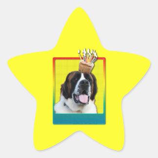 Invitation Cupcake - St Bernard - Mae Star Sticker