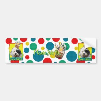Invitation Cupcake - Tibetan Terrier Bumper Sticker