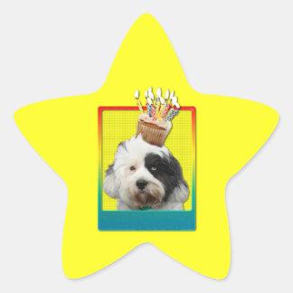 Invitation Cupcake - Tibetan Terrier Star Sticker