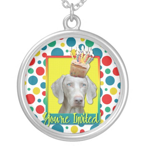 Invitation Cupcake - Weimeraner Necklaces