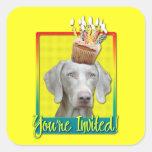 Invitation Cupcake - Weimeraner Stickers