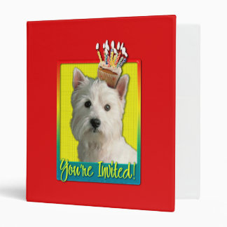 Invitation Cupcake - West Highland Terrier 3 Ring Binders