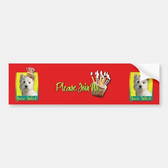 Invitation Cupcake - West Highland Terrier Bumper Sticker