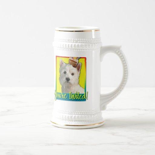 Invitation Cupcake - West Highland Terrier 18 Oz Beer Stein