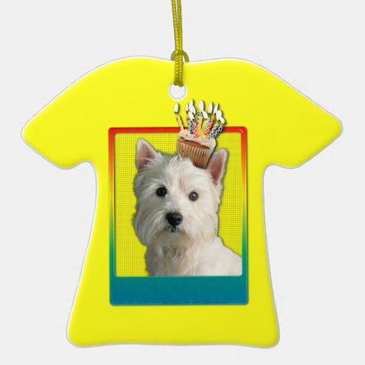 Invitation Cupcake - West Highland Terrier Christmas Tree Ornament