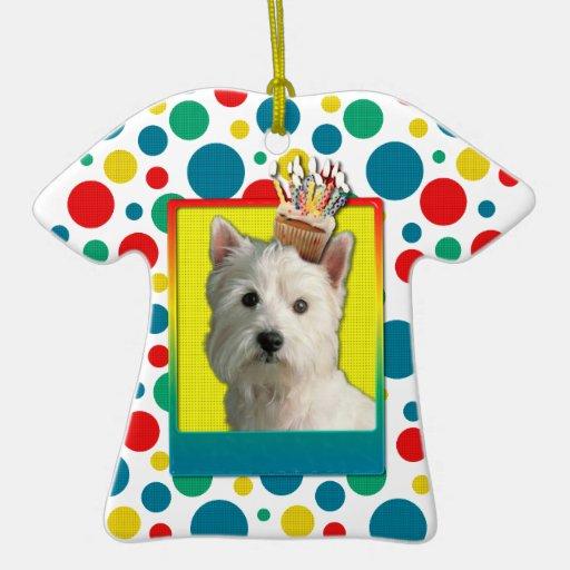 Invitation Cupcake - West Highland Terrier Christmas Ornament