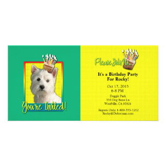 Invitation Cupcake - West Highland Terrier Custom Photo Card