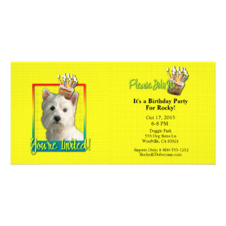 Invitation Cupcake - West Highland Terrier Photo Card Template