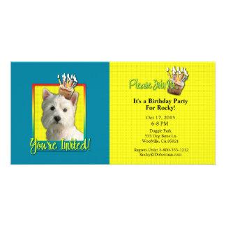 Invitation Cupcake - West Highland Terrier Photo Card