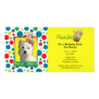 Invitation Cupcake - West Highland Terrier Photo Greeting Card