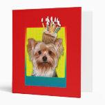 Invitation Cupcake - Yorkshire Terrier Binder