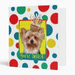 Invitation Cupcake - Yorkshire Terrier 3 Ring Binders