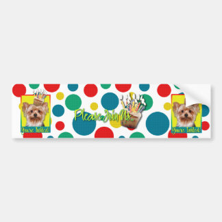 Invitation Cupcake - Yorkshire Terrier Bumper Sticker