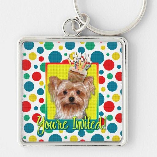 Invitation Cupcake - Yorkshire Terrier Key Chains