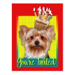 Invitation Cupcake - Yorkshire Terrier Postcard