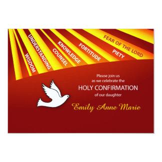 Invitation Daughter Confirmation Personalize, Cust