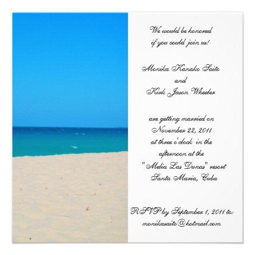 Invitation Destination Wedding