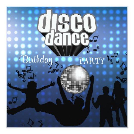 Invitation Disco Dance Birthday Party Retro