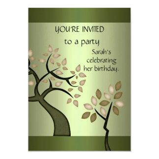 Invitation Elegant Avocado Tree Green Floral