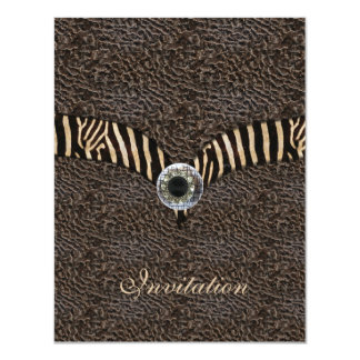 Invitation Elegant Wild Exotic Animal Leather 2