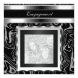 Invitation Engagement Glamour Abstract Black Photo Announcements