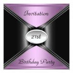 """Invitation Envelope Any Birthday Purple color 5.25"""" Square Invitation Card"""