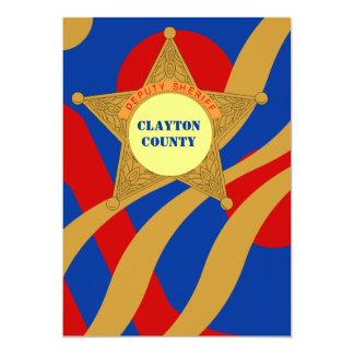 Invitation Festive Streamers Deputy Sheriffs Badge