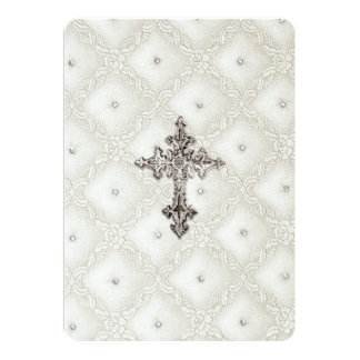 Invitation First Communion Quilted Look
