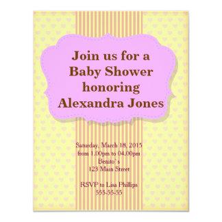 Invitation for Baby Shower girls