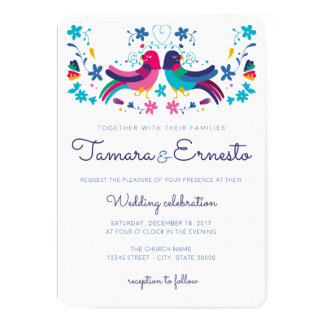Invitation for Mexican wedding