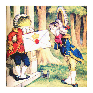 Invitation From the Queen of Hearts in Wonderland Canvas Print