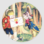Invitation from the Queen of Hearts in Wonderland Classic Round Sticker